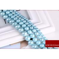 Wholesale Wholesale High Quality 6mm-12mm Blue  Round Shap Shell Pearl Strand 16 inches from china suppliers