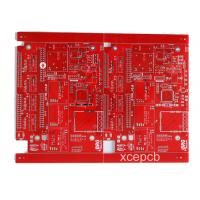 Wholesale 6 Layer Multilayer PCB Red Solder Mask White Silk Screen For Ultrasonic Wave from china suppliers