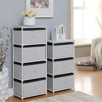 Wholesale Daily Necessities Bedroom Storage Units , CE Storage Shelving Units With Fabric Drawer from china suppliers
