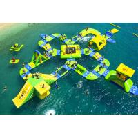 Wholesale 0.9mm Plato PVC Tarpaulin Giant Inflatable Water Parks , Wave Island Wibit Sport Park 65 Parts from china suppliers
