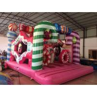 China Digital Printing Inflatable Candy Bounce House For Christmas Festival for sale