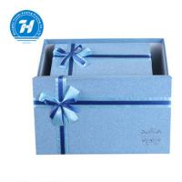 Wholesale Blue Custom Luxury Gift Packaging Boxes , Wedding Party Favor Boxes from china suppliers