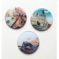 China Custom Various Pictures 3D Epoxy Glass Fridge magnet on sale