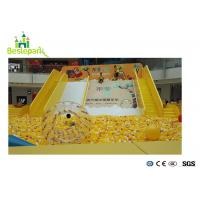 Wholesale Yellow Childrens Activities Indoor Play Areas , Indoor Ball Pit For Toddlers from china suppliers