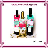Quality Red Wine Bottle Hang Tags/Wine Bottle Neck Tags/Bottle Wedding Gift Tag ME-TG016 for sale