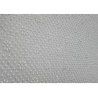 Wholesale Pure White Needle Punched Polyester Carpet Underlay Felt Floral Dots from china suppliers