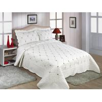 Wholesale Embroidery Queen Size Geometric Quilt Cover , Cotton Quilt Covers Color Printed from china suppliers