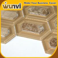 Buy cheap Wall Glass And Stone Mosaic Tile 345X245mm , natural stone mosaic tiles from wholesalers