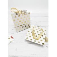 China Polka Dots Exquisite Custom Packaging Bags For Birthday Graduation Wedding for sale