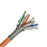 China Cat7 Stp Shielded 0.57 Bare Copper 7.0MM Lan Network Cable on sale
