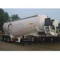 China 3 Axles Dry Bulk Pneumatic Tank Trailers For Bulk Cement Powder 59000L Volume on sale