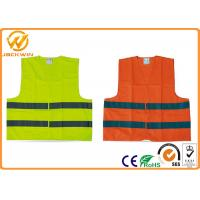 Wholesale High Visibility Polyester Reflective Safety Vests FluorescentOrange / Yellow from china suppliers