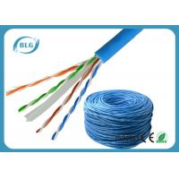 Wholesale Solid UTP Cable Ethernet Cat 6 Network Internet Cord 4 Pair Pure Bare Copper Wire 23AWG from china suppliers