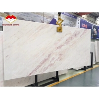 Wholesale Natural rose marble onyx backlit pink vein white marble tile from china suppliers
