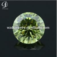 AAAAA apple green cz small genuine synthetic loose diamond for sale