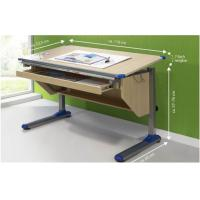 Wood Grain computer Adjustable Drawing Desk table with Ruler Storage for sale