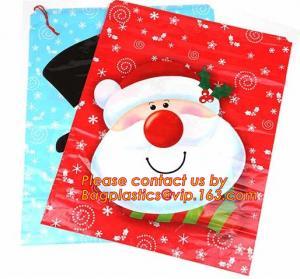 Wholesale Christmas Fancy Gift Poly Bag /drawstring santa sack bag, decoration bags, jumbo bags, giant gift bags, Christmas bags from china suppliers