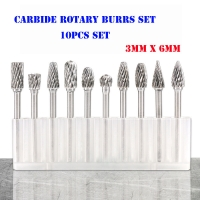 Buy cheap BMR TOOLS 10pcs rotary burrs set 6mm dia with 3mm shank for wide usage in from wholesalers