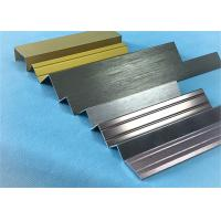 Quality Customized Length Aluminium Floor Strips / Aluminium Trim For Ceramic Decoration for sale