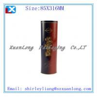 Quality round red wine tin box for sale