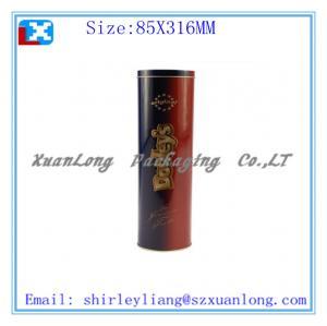 Wholesale Custom Design Wine Box Round Tin Wine Box from china suppliers