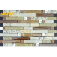 Wholesale Swimming Pools Wavy Glass Mosaic Tile , Washable Outdoor Mosaic Tiles For Wall from china suppliers
