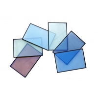 China Colored Low-E Double Glazed Insulated Glass for Building Curtain Wall on sale