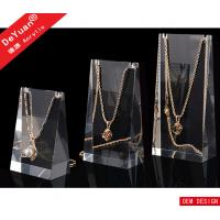 Wholesale High Transparent Acrylic Jewelry Display Stands Plexiglass Necklace Holder from china suppliers