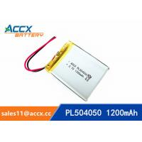 Wholesale 504050 pl504050 3.7v 1200mah lipo battery li-polymer rechargeable li-ion batteria from china suppliers