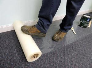 Wholesale 150 Micron 24'' 300' Plastic Sheet Carpet Protector House Renovation Rug Protection from china suppliers