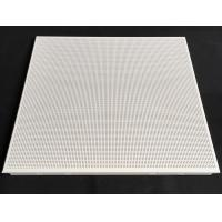 Fireproof Perforated Aluminum 0.7mm Thickness / Metal False Ceiling Tiles 600 X 600mm for sale