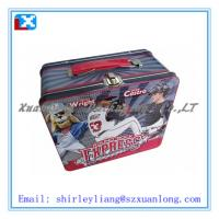 Wholesale rectangular handle lunch tin box from china suppliers
