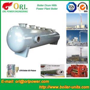 Wholesale Energy Saving Floor Standing Boiler Mud Drum , Grey High Pressure Drum from china suppliers