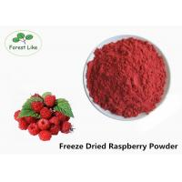 China Pure Natural Freeze Dried Raspberry Fruit Powder Food Grade Red Color on sale