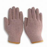 Wholesale 7G Safety/Working Gloves, Made of Natural White Polyester/Cotton Knitted from china suppliers