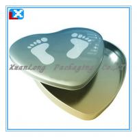 Quality Heart shaped candy tin box for sale