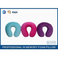 Cotton Comfort Travel Memory Foam Pillow For Head And Neck Pain , Embroidery Printing
