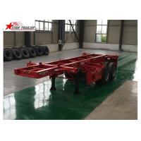Wholesale 2 Axles Tipper Hydraulic Flatbed Trailer , 50T Flatbed Truck Trailer from china suppliers