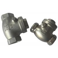 Wholesale Screwed SS316 and SS304 Check Valve , Cast Steel Swing Check Valve from china suppliers