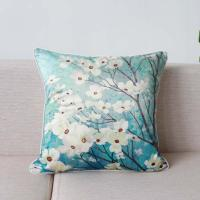 China Emulation silk Cushion Cover Printed Flower Cushion Cover 45*45cm, 50*50cm Made in China on sale
