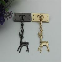 Customized design zinc alloy metal light gold super lovely giraffe hanging decorative charms for sale