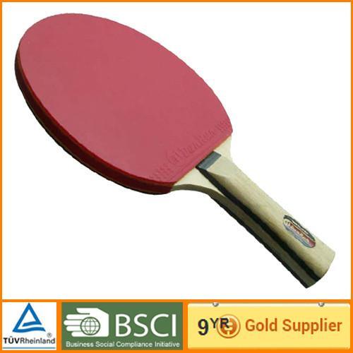 Black Muti Color Table Tennis Bat Sporting 5 Plys Rubber