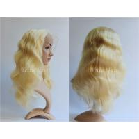 All Length Full Lace Virgin Hair Wigs / Blonde Body Wave Hair No Foul Odor for sale