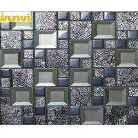 Wholesale Eco - Friendly Grey Square Glass Mirror Mosaic Tiles For House Festival Dec from china suppliers