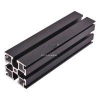 China Aluminum T-slot extrusion aluminum profile black 6000 series T5 anodized for sale