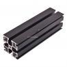 Aluminum T-slot extrusion aluminum profile black 6000 series T5 anodized for sale