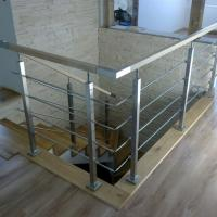 Wholesale Solid Rod Stainless Steel Railing Design for Balcony / Stairs from china suppliers