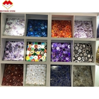 Buy cheap Polished gemstone Amethyst faux marble panels for decoration wall slab from wholesalers