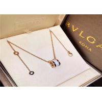 Wholesale 18K Gold Bvlgari B Zero1 Diamond Necklace For Young Girls / Boys from china suppliers
