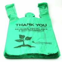 40 % Biobased Biodegradable Plastic Shopping Bags Green Color 16 / 18 Mic
